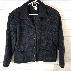 Woolrich   Wool & Mohair Multi Colors Blazer Sz M